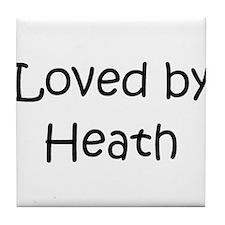 Cute Heath love Tile Coaster