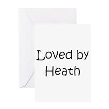 Cute Heath love Greeting Card