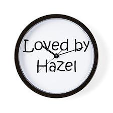 Cute Hazel Wall Clock