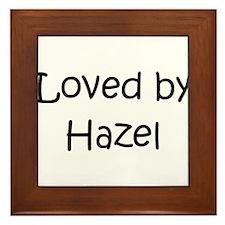 Cool Hazel Framed Tile