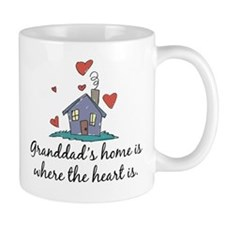 Granddad's Home is Where the Heart Is Small Mug