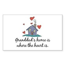 Granddad's Home is Where the Heart Is Stickers