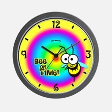 Bee on Time Wall Clock