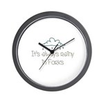 It'a Always Rainy in Forks Wall Clock