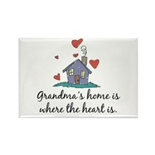 Grandma's Home is Where the Heart Is Rectangle Mag
