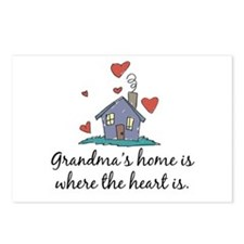 Grandma's Home is Where the Heart Is Postcards (Pa
