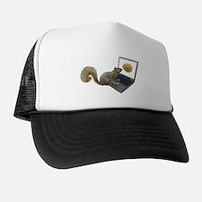 Squirrel at Computer Trucker Hat