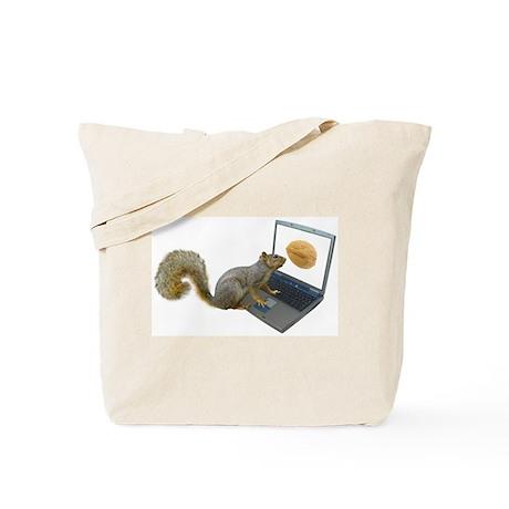 Squirrel at Computer Tote Bag