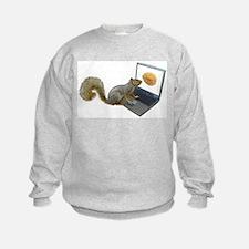 Squirrel at Computer Sweatshirt