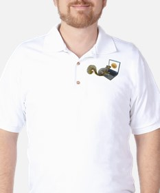 Squirrel at Computer T-Shirt
