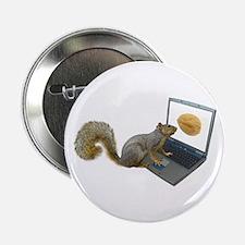 "Squirrel at Computer 2.25"" Button"