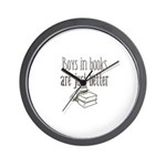 Boys in Books are just better Wall Clock