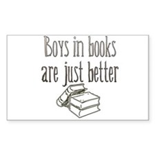 Boys in Books are just better Rectangle Decal