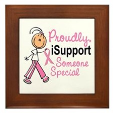 I Support Someone Special 1 (SFT BC) Framed Tile