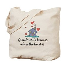 Grandmom's Home is Where the Heart Is Tote Bag
