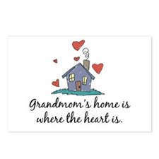 Grandmom's Home is Where the Heart Is Postcards (P