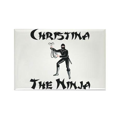 Christina - The Ninja Rectangle Magnet