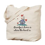Grandpa's Home is Where the Heart Is Tote Bag