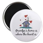 Grandpa's Home is Where the Heart Is Magnet