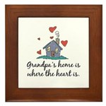 Grandpa's Home is Where the Heart Is Framed Tile