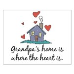 Grandpa's Home is Where the Heart Is Small Poster