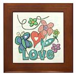 Heart Love Framed Tile