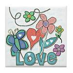 Heart Love Tile Coaster