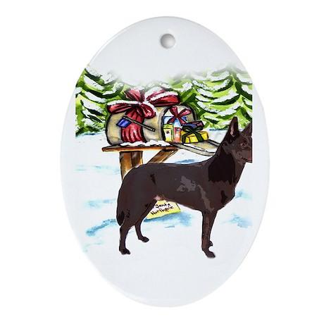 Kelpie Christmas Oval Ornament