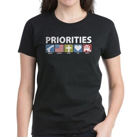 GOP Priorities Women's Dark T-Shirt