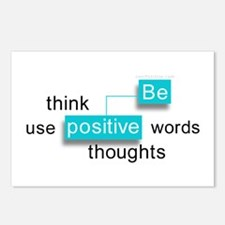 'Be Positive' Postcards (Package of 8)