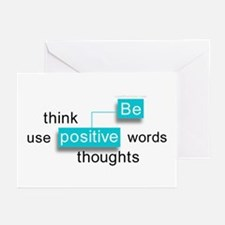 'Be Positive' Greeting Cards (Pk of 10)