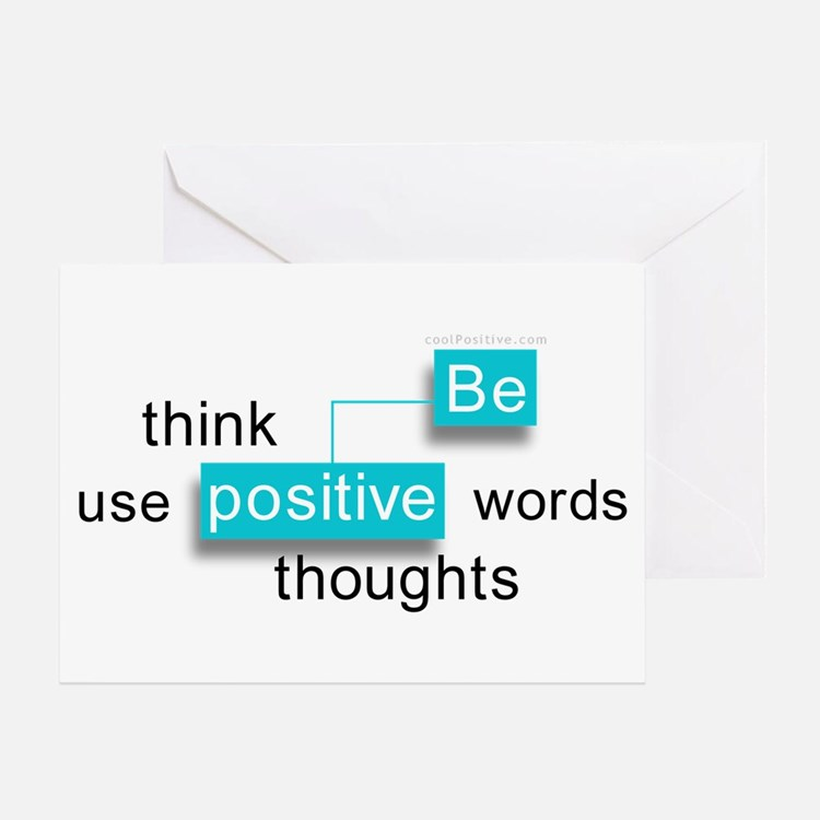 'Be Positive' Greeting Card