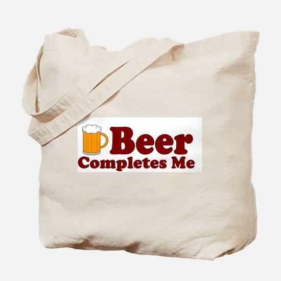 Beer Completes Me Tote Bag