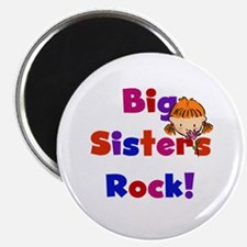 "Big Sisters Rock 2.25"" Magnet (10 pack)"