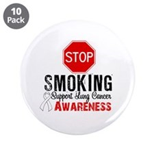 "Stop Smoking Lung Cancer 3.5"" Button (10 pack)"
