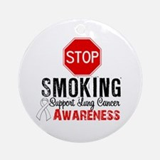 Stop Smoking Lung Cancer Ornament (Round)