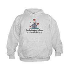 Great Grandma's Home is Where the Heart Is Hoodie