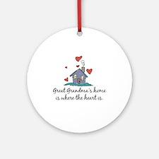 Great Grandma's Home is Where the Heart Is Ornamen