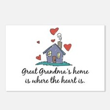 Great Grandma's Home is Where the Heart Is Postcar