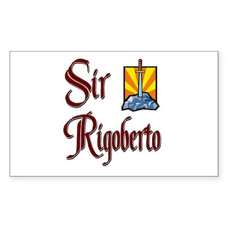 Sir Rigoberto Rectangle Sticker