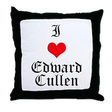 I Heart Edward Cullen Throw Pillow