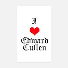 I Heart Edward Cullen Rectangle Decal
