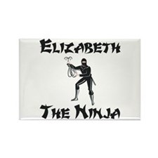 Elizabeth - The Ninja Rectangle Magnet