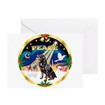 XmasSunrise/Rottweiler Greeting Cards (Pk of 10)