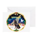 XmasSunrise/Rottweiler Greeting Cards (Pk of 20)