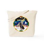 XmasSunrise/Rottweiler Tote Bag
