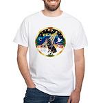 XmasSunrise/Rottweiler White T-Shirt