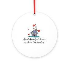 Great Grandpa's Home is Where the Heart Is Ornamen