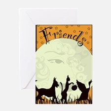 Unique Cats dogs Greeting Card
