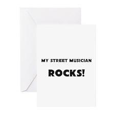 MY Street Musician ROCKS! Greeting Cards (Pk of 10